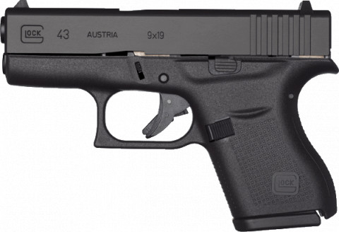 Glock G43 facing left