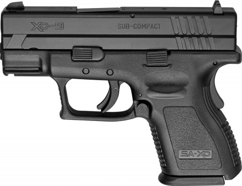 "Springfield XD Sub-compact 3"" facing left"