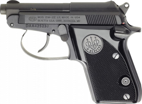 Beretta 21A Bobcat facing left