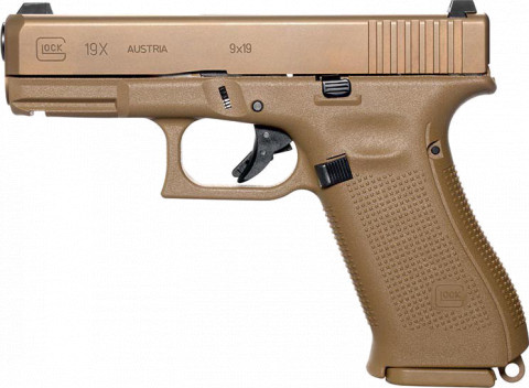 Glock G19x facing left