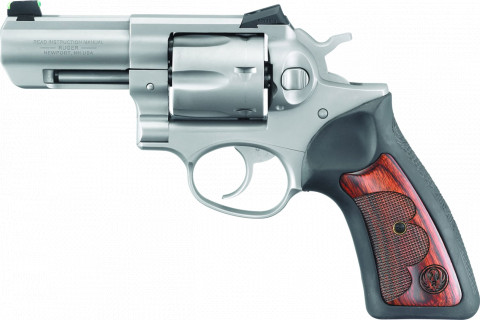 "Ruger GP100 Wiley Clapp 3"" facing left"