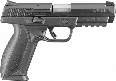 Ruger American Duty 45ACP facing right
