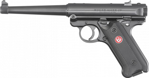 "Ruger Mark IV Standard 6"" facing left"