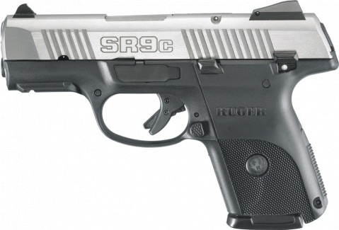 Ruger SR9c facing left