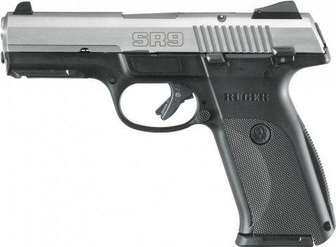 Ruger SR9 facing left