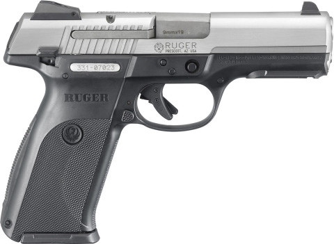 Ruger SR9 facing right