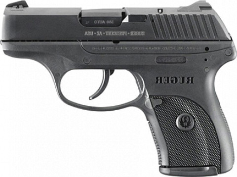 Ruger LC380 facing left