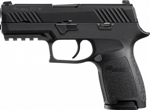Sig Sauer P320 Nitron Compact facing left
