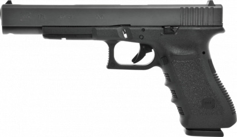Glock G17L facing left