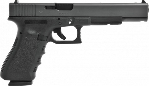 Glock G17L facing right