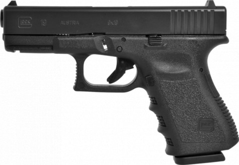 Glock G19 facing left