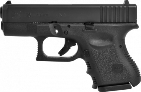 Glock G26 facing left