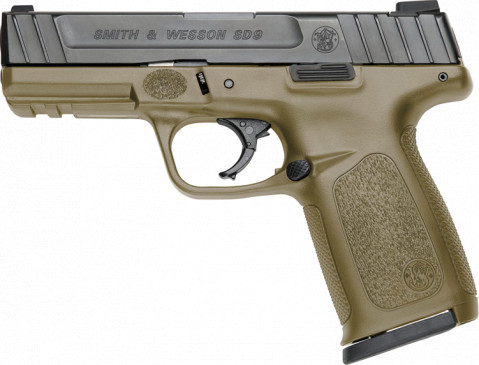 Smith & Wesson SD9 VE facing left
