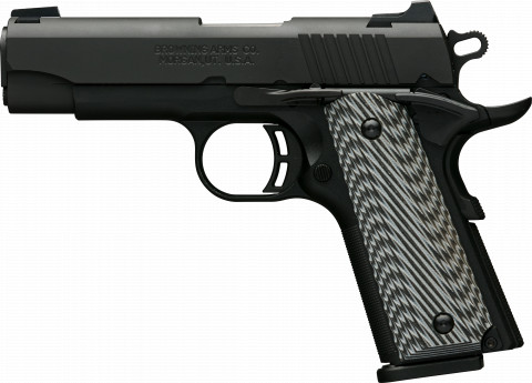 Browning 1911-380 Black Label Pro Compact facing left