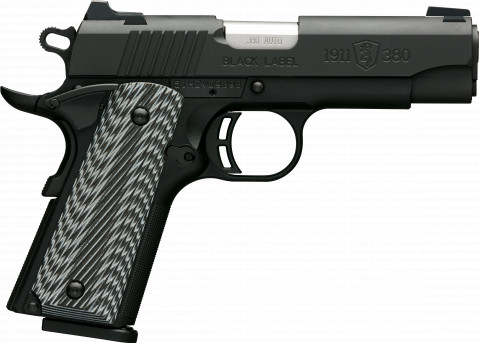 Browning 1911-380 Black Label Pro Compact facing right