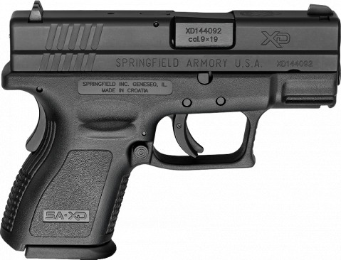 "Springfield XD Sub-compact 3"" facing right"