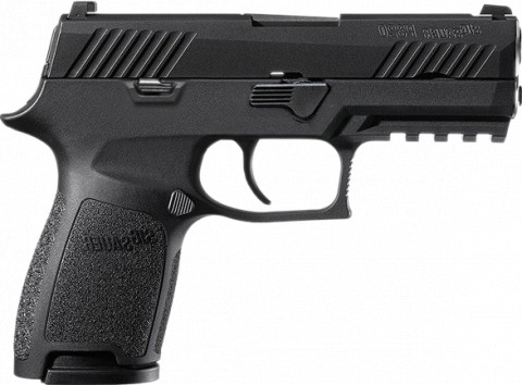 Sig Sauer P320 Nitron Compact facing right