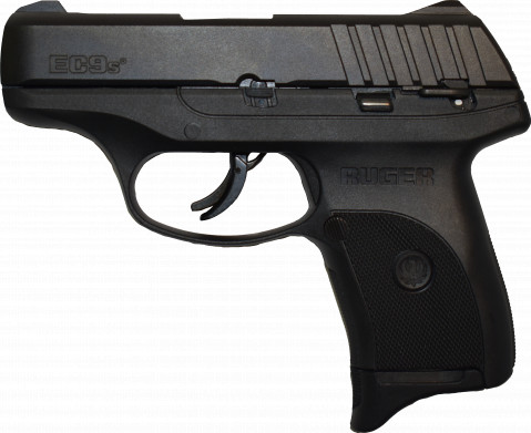 Ruger EC9s facing left