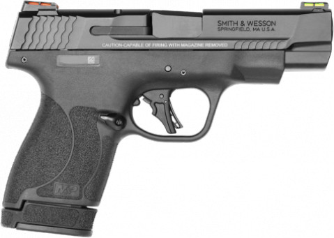 "Smith & Wesson M&P 9 Shield Plus 4"" facing right"