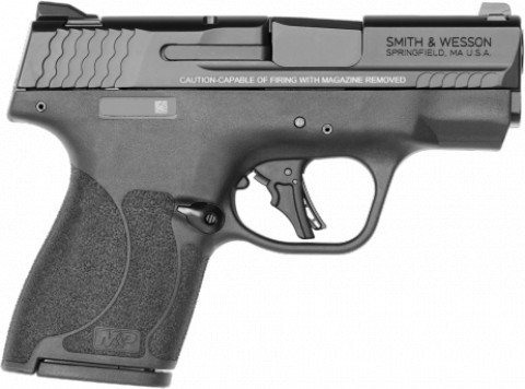 Smith & Wesson M&P 9 Shield Plus facing right